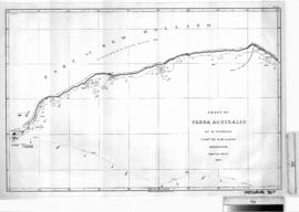 Chart of Terra Australis by Matthew Flinders [b/w photographic print only].