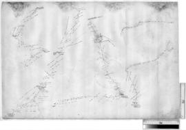 Canning Stock Route - plan of original survey by A.W. Canning between Murguga Native Well and north of Kudurra Native Well, c. 1906 [Tally No. 006900].