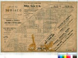 Perth 18/52. Suburb of Subiaco. Plan of Subiaco showing all subdivisions & DP Nos. [scale: 6 ...