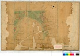Northam 13F. Plan showing various Lots & roads & Avon River by F.T. Gregory, Fieldbook 11...