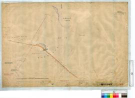Road approaches to the Barragup Bridge over Serpentine River at Barragup by A.J. Lewis, Fieldbook...