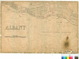 Albany 30/21. Albany Sheet 1, shows railway and Lots off Princess Royal Harbour, P. Chauncy [scal...