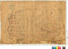 Narrogin Agricultural Area. Area, Northern portion. Lots 1-59 (East of S. Railway) by J. Oxley [scale: 20 chains to an inch].