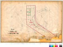 Cottesloe 79/7B. Plan of Quarry lots at Mosman Park [scale: 1 chain to 1 inch].
