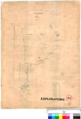 R. Edwards - sketch of a route from the Blackwood to the Vasse.