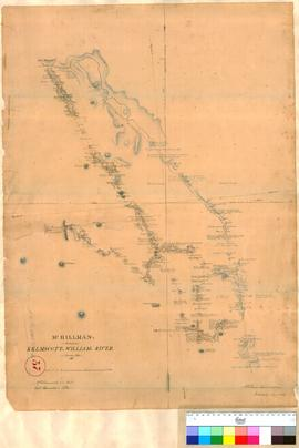 Mr Hillman's route from Kelmscott to Williams River, January 1835.