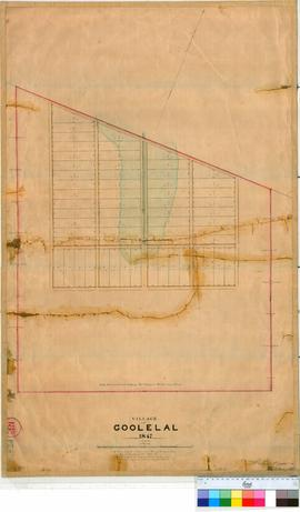 Perth 18/21. Plan of Village of Goolelal showing Lots 1-60 by A. Hillman, Feb 1847 [scale: 4 chai...