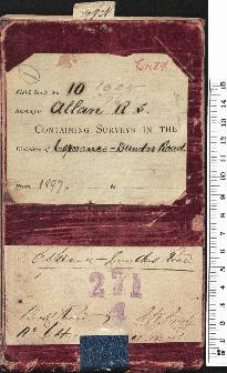 Field Book No. 10. R.S. Allan. containing surveys in the districts of Esperance - Dundas Rd. 1035/96 (Esperance - Dundas Road. Book record No. 64/2. G.W.S. 1196/96. 21/12/1896. 271/4)