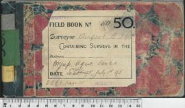 W.H. Angove Field Book No. 50