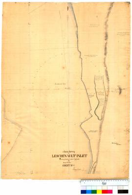 Chain survey of the Leschenault Inlet by Thomas Watson, sheet 6 [Tally No. 005165].