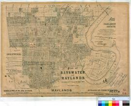 Perth 18/64. Suburban Perth. Plan of Bayswater & Maylands showing subdivisions to 31/1/1905 a...