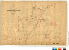 Survey of Locations (South of Geetarning) 9270-9279 by W. Gemmell (also roads) [scale: 20 chains to an inch].