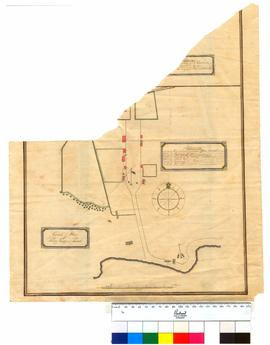 Ground plan of King George Sound settlement showing position of buildings [Tally No. 005337A] [tear across map].