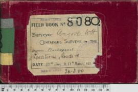 W.H. Angove Field Book No. 80. Containing surveys in the districts Plantagenet. Locations, Roads, etc