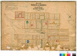 Katanning 158. Plan of the townsite of Katanning in the Kojonup District, Western Australia, 1889...