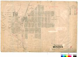 Menzies 91/6. Plan of Townsite of Menzies showing roads, Recreation Reserve 548, Menzies Railway ...