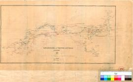 C.C. Hunt - explorations in Western Australia, 1864-1866 (Composite plan reduced from original) S...