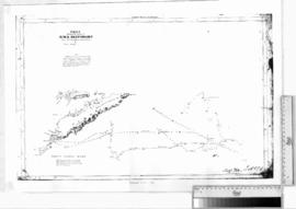 Tracks of HM Bomb Vulcan between Timor & New Holland [b/w photographic print only].
