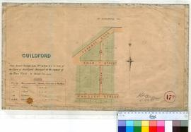 Guildford 17D. Guildford - New street through Lot Nos 38, 39 & 8. 132 and 133 of the town of ...