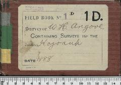 Field Book No. 1D. W.H. Angove. Kojonup