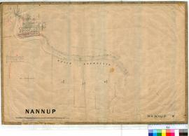 Nannup 47/1. Plan of Nannup Townsite showing Blackwood River, Lower Blackwood Bridge. Reserve 162...