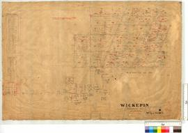 Survey of Wickepin Agricultural Area. Area (Tarling Well) by H.M. Lefroy, Fieldbooks 9 & 10 [scale: 20 chains to an inch].