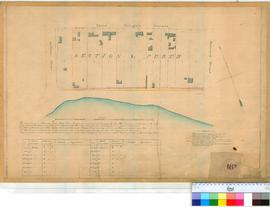 Perth 18/19 [1]. Plan of Perth Townsite Section L, Lots 1-10 bounded by St Georges Terrace, William & Barrack Streets [scale: 10 chains to an inch, Tally No. 005465].
