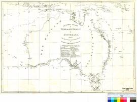 General Chart of Terra Australis - Showing the parts explored between 1798 and 1803 by Matthew Flinders, Commander of HMS Investigator.