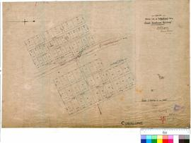 Cuballing 56/1. Tracing showing lots at Cuballing; siding Great Southern Railway. WA Land Co. W. ...
