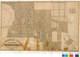 Perth 18/61. Suburb of Victoria Park. Plan of Vic Park showing all subdivisions bounded by Swan R...