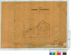 Location E.G.R. Tammin Reservoir by W.E. Hills [scale: 20 chains to an inch].