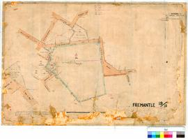 Fremantle 19/11. Survey of Recreation Reserve 1372 and extension of John Street and town lot 1366, 1386. W J Crowther [scale: 1/2 chain to 1 inch].
