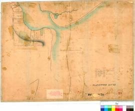 Augusta 28. Augusta. Survey of west side of River. A. Hillman [Tally No. 005621].