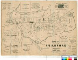 Guildford 17/7B. As with 17/7A but in addition this lithograph was registered with the District Survey Office and a number of the lots have been annotated [Tally No. 005714].