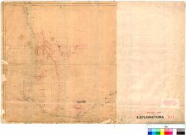 South-West of Western Australia showing tracks of early explorers, including Bannister and Dale, 1830-1831.