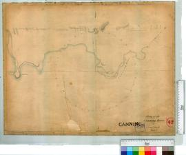 Survey of the Canning River by G.D. Smythe,1842 [scale: 8 chains to an inch].