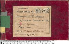 W.H. Angove Field Book No. 86. Containing surveys in the district of Kojonup. Locations