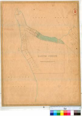 Perth 18M. Plan of South Perth Lots 1-17 Pensioners Lots 2-11, 51-55 & 38, 39, 47, 48 & 62 (near South & South East of Belcher Point) [undated/unsigned, probably W. Phelps in 1858 or earlier]. [scale: 8 chains to inch, Tally No. 005764].