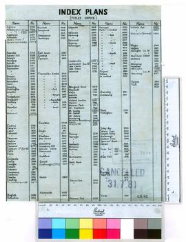 Index plans (Titles Office).