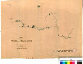 H.W. Bunbury - route taken from Pinjarra to the Williams River, 1836. Copied by A. Durlacher, 1839.