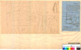 Proposed boundaries of Bridgetown Townsite by T Campbell Carey, 1868, showing Blackwood River and...