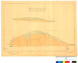 Lake Irwin & Lake Kingsford - Section of the cutting for the purpose of connecting of by F.T....