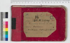 J.H.M. Lefroy Field Book No. 16