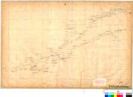 C.C. Hunt - exploration track eastward, February-October 1864 (Western sheet, see also nos. 24 &a...
