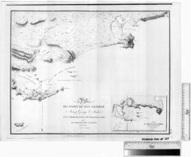 Plan du Port De Roi George pav MML Freycinet, Faure & Ransonnet [b/w photographic print only].