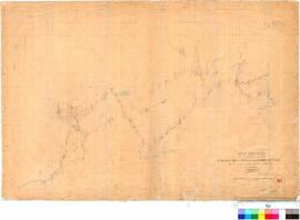 A.C. Gregory - eye sketch of the country between Champion Bay and Moore River showing the route o...