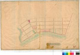 Northam 13A. Plan of Northam Townsite showing Lots 1 to .. and the Mortlock River, unsigned and u...
