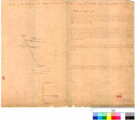 J. Drummond - sketch of route northward from Toodyay, February 1841.