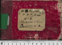 Field Book No. 8. W.H. Angove for A.C. Ross, Plantagenet and Kent. Locations and [reserves? Pheon symbol]
