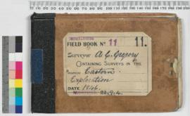 A.C. Gregory Field Book No. 11